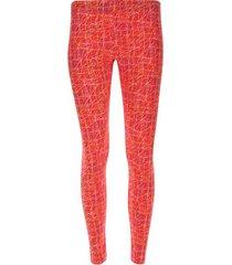 leggings rayas de colores color naranja, talla xl