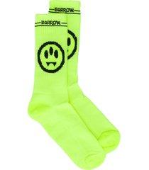 barrow smile-jacquard socks - yellow