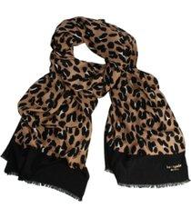 kate spade new york forest feline oblong scarf