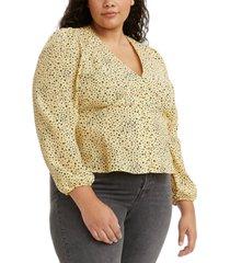 levi's trendy plus size sophia printed top