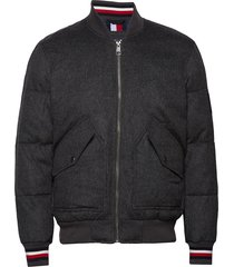 icon wool quilted bomber bomberjack jack grijs tommy hilfiger