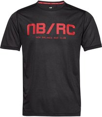 printed impact run ss t-shirts short-sleeved svart new balance