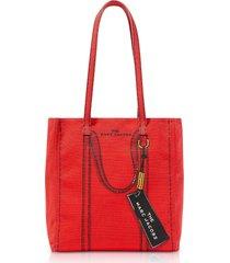 marc jacobs designer handbags, cotton & linen the trompe l'oeil tag tote bag 27