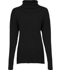 maglione oversize a coste (nero) - bodyflirt