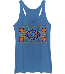 disney juniors' aladdin magic carpet panel print tri-blend tank top