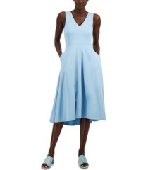 alfani solid v-neck tank dress, created for macy's