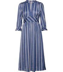 midi length dress with fitted waist knälång klänning multi/mönstrad scotch & soda