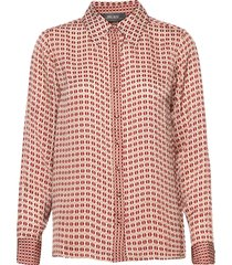 taylor retro shirt blus långärmad röd mos mosh