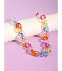1pc colorful acrílico pantalones cadena