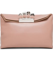 alexander mcqueen four ring soft pouch