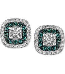 diamond multicolor stud earrings (1/4 ct. t.w.) in sterling silver
