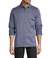 dot-print long-sleeve shirt