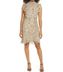 women's sam edelman high neck sleeveless smocked dress