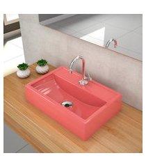 kit cuba para banheiro trevalla q45e torneira válvula 1pol rosa