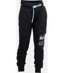 pantalon buzo cargo bolsillo print negro family shop