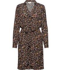 fariha shirt dress knälång klänning brun minus