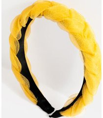 payton braided chiffon headband - marigold