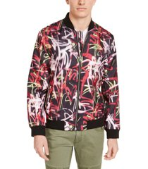 inc men's graffiti graphic bomber jacket, created for macy's