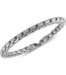 esquire men's jewelry link bracelet in stainless steel, created for macy's