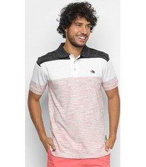 camisa polo gajang color block masculina