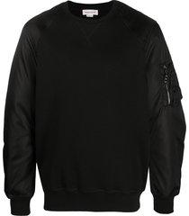 alexander mcqueen zip-pocket sweatshirt - black