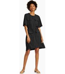 alfani bungee-detail dress, created for macy's