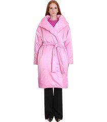 balenciaga coat in rose-pink polyester