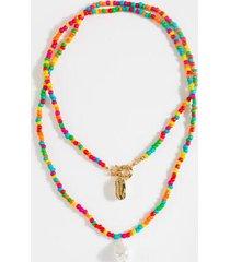 camila beaded drop necklace - multi