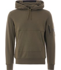 cp company m93 hooded sweatshirt-olive-mss032a-516
