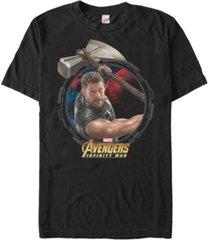 marvel men's avengers infinity war the mighty power of thor short sleeve t-shirt