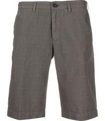 canali straight-leg bermuda shorts - grey