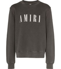 amiri core logo printed sweatshirt - black