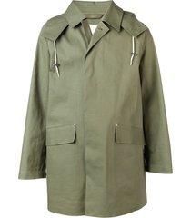 mackintosh bonded oversized hooded coat - green
