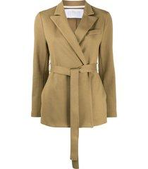 harris wharf london cotton belted blazer - neutrals