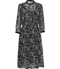 allover printed sheer dress jurk knielengte multi/patroon scotch & soda