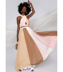 akira yours truly maxi halter top dress