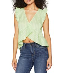 bcbgeneration ruffled cotton top