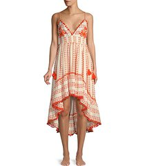 nina embellished high-low dress