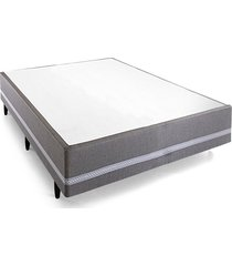 base cama box casal herval confort master, 39x138x188 cm, cinza