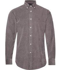 garment dyed corduroy shirt overhemd casual grijs tommy hilfiger