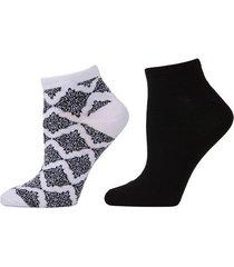 natori diamond socks, 2 pair pack, women's natori