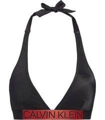 calvin klein triangel bikinitop plunge - zwart-xs