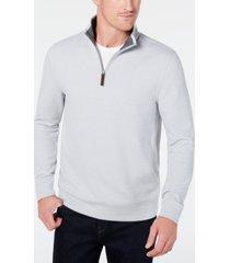 tasso elba men's 1/4-zip sweater, created for macy's
