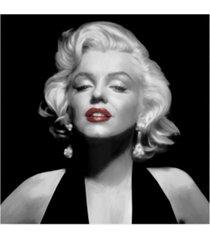 "chris consani halter top marilyn red lips canvas art - 15"" x 20"""