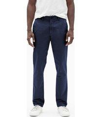 pantalon hombre slim stretch khaki azul gap
