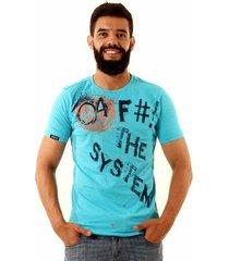 camiseta oitavo ato fck the system masculina