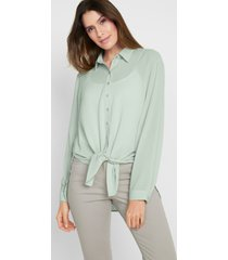 blouse met knoopdetails