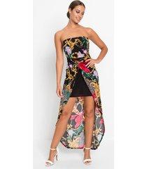 strapless jurk met print