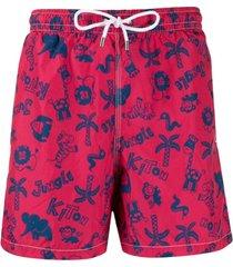 kiton jungle swim shorts - rosa
