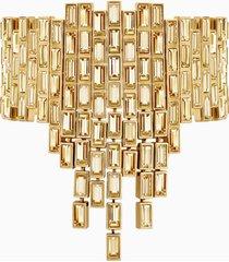 bracciale di grande stile fluid, marrone, placcato oro